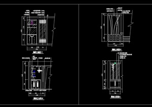 现代详细玄关隔断装饰cad施工图