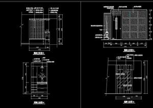 玄关隔断墙面装饰节点设计cad施工图
