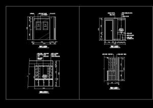 现代玄关隔断装饰节点cad立面图