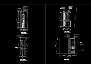 某现代隔断墙装饰节点设计cad施工图