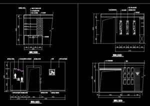 隔断墙装饰节点设计cad立面图