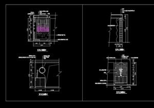玄关隔断墙装饰节点设计cad施工图