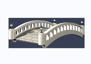 园林景观园桥素材设计3d模型及效果图