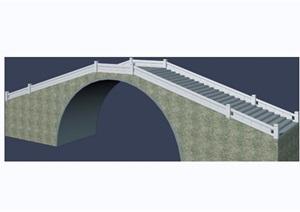 详细的景观园桥素材设计3d模型及效果图
