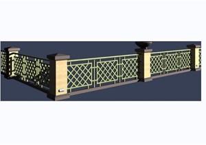园林景观详细的栏杆素材设计3d模型及效果图