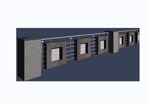 园林景观详细的栏杆围栏素材设计3d模型及效果图