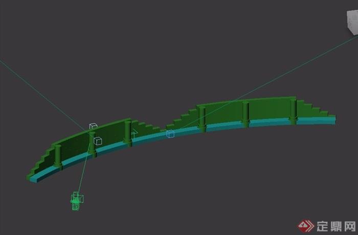 園林景觀詳細的圍欄欄桿設計3d模型及效果圖
