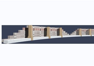 园林景观详细的围栏栏杆设计3d模型及效果图