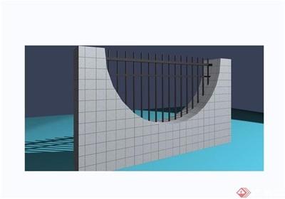 園林景觀圍墻欄桿素材設計3d模型及效果圖