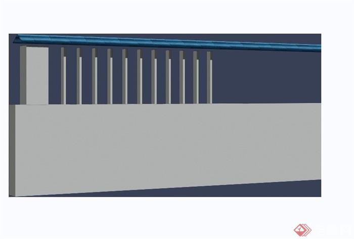 現代圍墻素材設計3d模型及效果圖