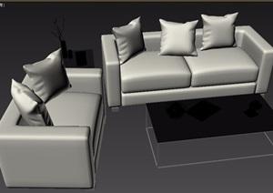 现代风格室内家具沙发组合3d模型