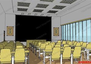 学校模型02,模型丰富详细,材质贴图清晰,具有很高的学习参考价值