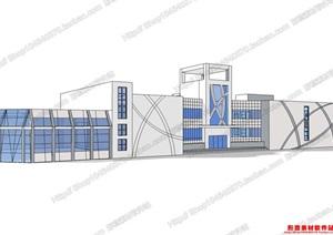 学校模型06,模型丰富详细,材质贴图清晰,具有很高的学习参考价值