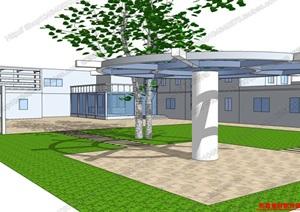 学校模型07,模型丰富详细,材质贴图清晰,具有很高的学习参考价值
