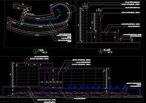 框景墙水景万能支撑器镜面水景涌泉泵坑泵房施工图详图