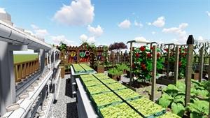 学校楼顶花园生态景观设计su模型