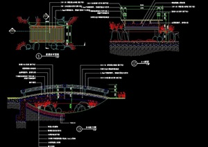景观桥设计cad详图