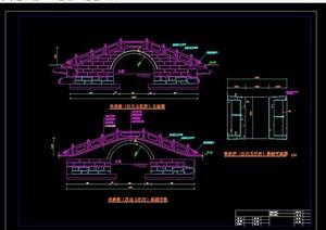 两个详细的拱桥cad施工图