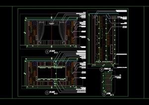 特色廊架新中式现代中式廊架景亭花架钢木结构景亭施工图详图