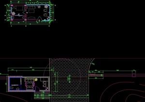 某详细的公园入口大门素材设计cad施工详图