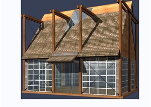 欧式风格亭房建筑素材设计3d模型及效果图