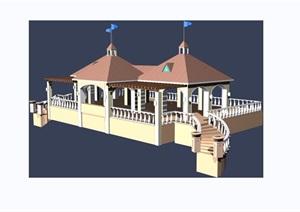 园林观景亭素材设计3d模型及效果图