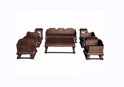木质云龙纹十件套桌椅组合素材设计3d模型