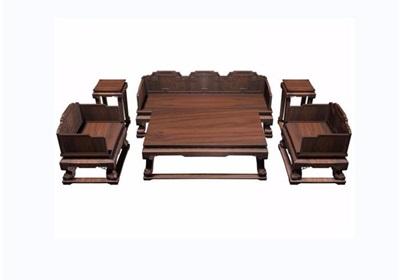 云龙纹六件套木质桌椅素材设计3d模型