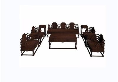 鱼水纹十件套桌椅素材设计3d模型及效果图