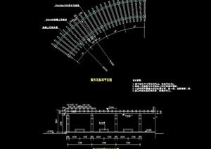 现代风格详细花架设计cad施工图