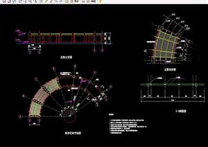 景观花架详细设计cad施工图