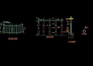 弧形花架素材设计cad施工图