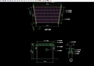 简单的花架设计cad施工图