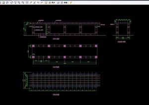 景观花架节点素材设计cad施工图