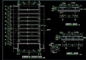 园林景观玻璃廊桥设计cad施工图