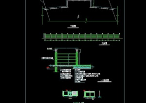 欄桿圍欄素材設計cad施工圖