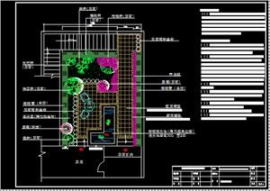 某别墅精致小型花园方案图、效果图