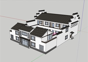 农家乐建筑多层建筑设计SU(草图大师)模型