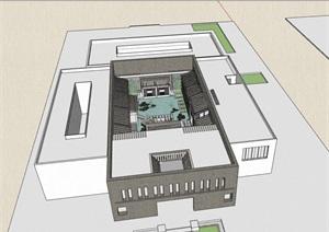 四合院中庭景观素材设计SU(草图大师)模型