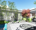 中式小庭院景观设计su模型