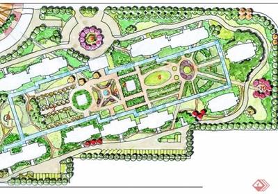 欧式风格风格住宅小区规划jpg方案及实景图