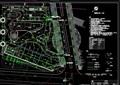 某广场绿地喷灌设计cad方案图