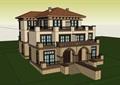 经典别墅欧式详细建筑设计su模型