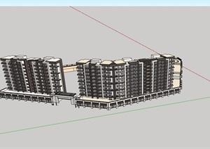 某商住详细的小区建筑楼设计SU(草图大师)模型