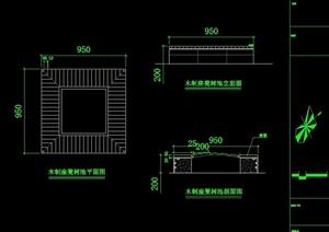 园林景观详细的坐凳设计cad施工图
