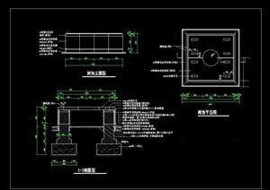 园林景观方形树池设计cad施工图