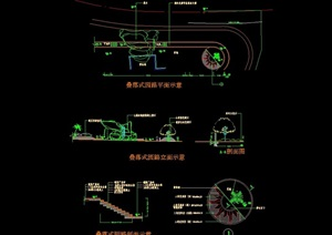 叠式园路铺装设计cad施工图