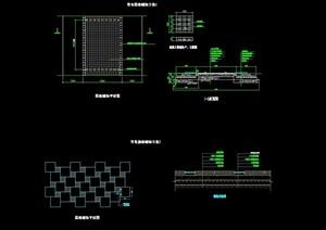 多种不同的园路铺装设计cad方案图