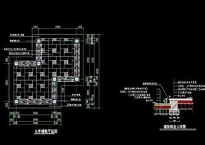地面详细的完整铺装设计cad施工图
