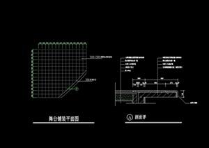 详细的两个地面铺装设计cad施工图